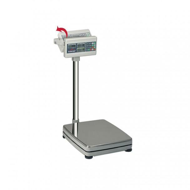 Balança 150 kg Eletrônica de Solo com Base Inox Quadrada