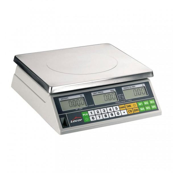 Balança 30 kg Eletrônica de Mesa com Base Inox Quadrada