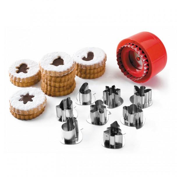 Set 8 Cortadores De Biscoitos Motivos Natal