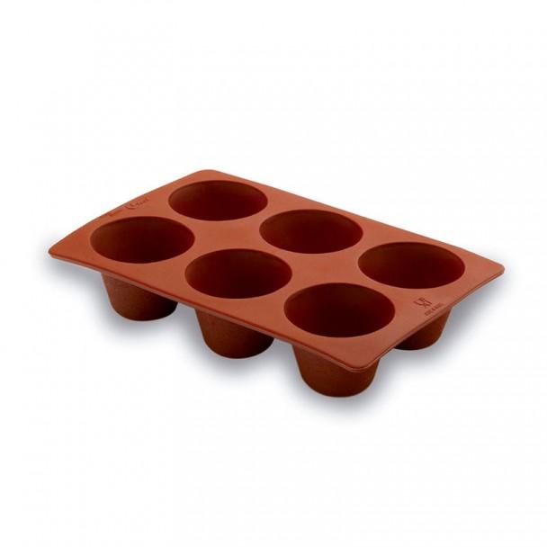 Molde de Creme com 6 Cavidades Silicone Pastryflex