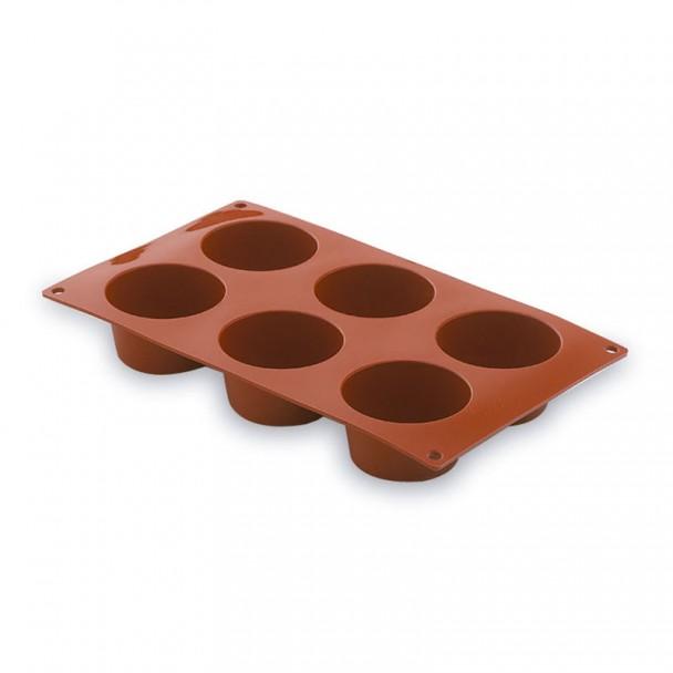 Molde Muffin 6 Cavidades Silicone Pastryflex