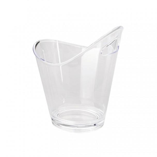 Cubo Enfriabotellas Acrílico Transparente com Alça Dupla