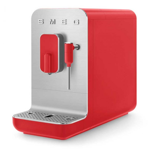 Cafeteira Superautomática com Vaporizador 50's Estilo Vermelho